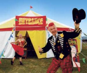 Fred and Chi Chi's big top, sold in 2012 and now home to Circus Pizaz