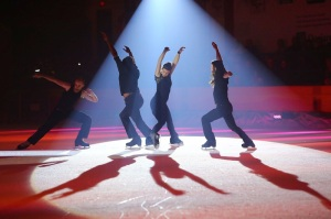 Alexandre Hamel, Samory Ba, Pascale Jodoin and Taylor Dilley on ice