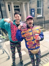 Cian Killick and Corman Mohally as Lords of Strut in Edinburgh. IMAGE: @magicbibby